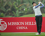 Jin Man of China tees off at the 13th hole during Round 3 of the World Ladies Championship 2016 on 12 March 2016 at Mission Hills Olazabal Golf Course in Dongguan, China. Photo by Victor Fraile / Power Sport Images