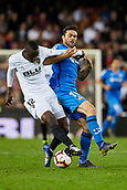 17th March 2019, Mestalla Stadium, Valencia, Spain; La Liga football, Valencia versus Getafe; Mouctar Diakhaby of Valencia CF challenges with Jorge Molina of Getafe