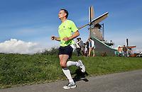 Zaanse Schans -  Deelnemer aan de Zaanse Schansloop.