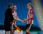 Kasia Lipka replaces Leandra Little of Sheffield Utd during the The FA Women's Championship match at the Proact Stadium, Chesterfield. Picture date: 8th December 2019. Picture credit should read: Simon Bellis/Sportimage