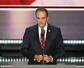 United States Representative Chris Collins seconds the nomination of Donald Trump as the GOP nominee for President of the United States at the 2016 Republican National Convention held at the Quicken Loans Arena in Cleveland, Ohio on Tuesday, July 19, 2016.<br /> Credit: Ron Sachs / CNP<br /> (RESTRICTION: NO New York or New Jersey Newspapers or newspapers within a 75 mile radius of New York City)