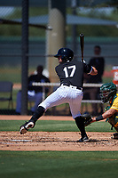 AZL White Sox Tyler Osik (17) at bat during an Arizona League game against the AZL Athletics Gold on July 4, 2019 at Camelback Ranch in Glendale, Arizona. The AZL White Sox defeated the AZL Athletics Gold 6-2. (Zachary Lucy/Four Seam Images)