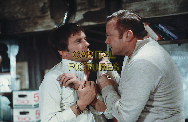 Jean-Louis Trintignant and Aldo Ray <br /> in And Hope to Die (1972) <br /> (La course du lievre a travers les champs)<br /> *Filmstill - Editorial Use Only*<br /> CAP/NFS<br /> Image supplied by Capital Pictures