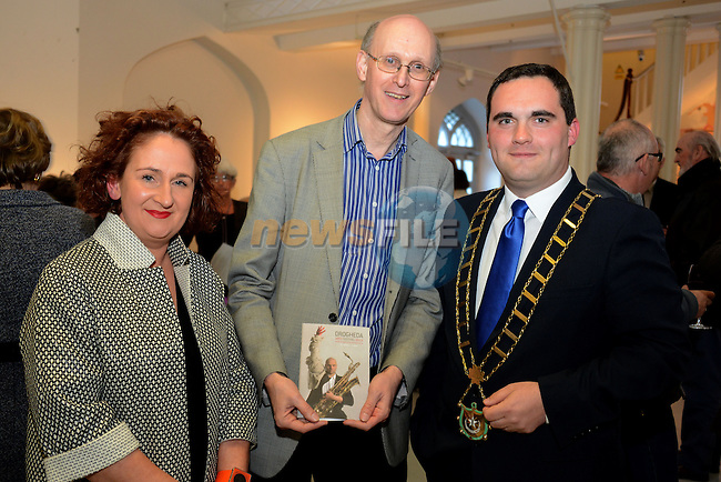 At the launch of the Drogheda Arts Festival were (from left) Festival director Aoife Ruane, Richard Wakely of the Belfast Arts Festival and Mayor of Drogheda Kevin Callan.