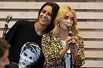 Singers Bebe (L) and Lali Esposito during the press conference and rehearsal of Festival Unicos. September 22, 2019. (ALTERPHOTOS/Johana Hernandez)