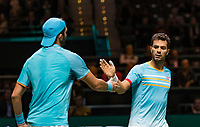 Rotterdam, The Netherlands, 14 Februari 2019, ABNAMRO World Tennis Tournament, Ahoy, <br /> Jean-Julien Rojer (NED) / Horia Tecau (ROU),<br /> Photo: www.tennisimages.com/Henk Koster