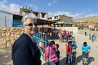 LEBANON Deir el Ahmad, a maronite christian village in Beqaa valley, school for syrian refugee children / LIBANON Deir el Ahmad, ein christlich maronitisches Dorf in der Bekaa Ebene, Schule der Good Shepherds Sisters der maronitischen Kirche fuer syrische Fluechtlingskinder, Schwester Amira Tabet