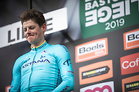 Jakob Fuglsang (DEN/Astana) on podium after winning the 105TH Liège-Bastogne-Liège 2019 (1.UWT)<br /> 1 Day Race Liège-Liège  (256km)<br /> <br /> ©kramon
