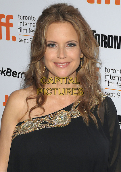 "KELLY PRESTON .""Casino Jack"" Premiere during the 2010 Toronto International Film Festival held at Roy Thompson Hall, Toronto, Ontario, Canada, 16th September 2010..portrait headshot one shoulder black dress gold smiling beaded embellished  .CAP/ADM/BPC.©Brent Perniac/AdMedia/Capital Pictures."