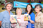 Launching the Yellow Man/Grey Man film about artist Pauline Bewick at the Killorglin CYMS on Thursday evening was l-r: Maurice Galwey, Director, Peig Ledwith, Audrey Jones from the Laura Lynn foundation, and Kathleen McGillicuddy,