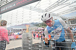Israel Cycling Academy at sign on before Stage 17 of the 2019 Giro d'Italia, running 181km from Commezzadura (Val di Sole) to Anterselva / Antholz, Italy. 29th May 2019<br /> Picture: Massimo Paolone/LaPresse | Cyclefile<br /> <br /> All photos usage must carry mandatory copyright credit (© Cyclefile | Massimo Paolone/LaPresse)