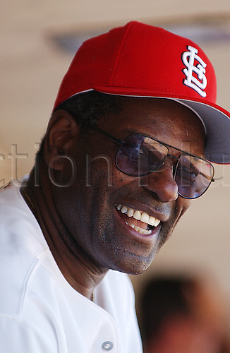03.2002, Bob Gibson of the St. Louis Cardinals during Spring Training at Roger Dean Stadium in Jupiter, FL..