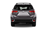 Straight rear view of 2018 Toyota Highlander Limited-Platinum 5 Door SUV Rear View  stock images