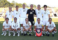 Starting eleven of the USA WNT during an international friendly match against the PRC WNT at KSU Soccer Stadium, on October 2 2010 in Kennesaw, Georgia.USA won 2-1.