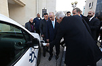 Palestinian Prime Minister Rami Hamdallah, meets with Chairman of the Board of Directors of Otuzon and agent of the French Peugeot for cars in Palestine Zaki Tarek, in the West Bank city of Ramallah, February 14, 2019. Photo by Prime Minister Office