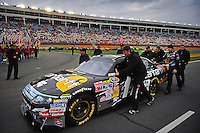 Oct. 17, 2009; Concord, NC, USA; The car of NASCAR Sprint Cup Series driver Matt Kenseth is pushed out to the grid prior to the NASCAR Banking 500 at Lowes Motor Speedway. Mandatory Credit: Mark J. Rebilas-