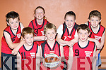The Castleisland team that showed their skills at the Garda/KDYS basketball blitz in the Castleisland Community Centre on Friday front row l-r: Stephen Murphy, David Shanahan, Donal Geaney. Back row: Joseph Sheehy, Kayla O'Connor, Laura Fleming and Adam O'Donoghue..