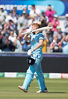 Jonny Bairstow (England) celebrates his century during England vs New Zealand, ICC World Cup Cricket at The Riverside Ground on 3rd July 2019
