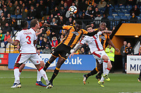 Jabo Ibehre of Cambridge goes close to a goal during Cambridge United vs Sutton United , Emirates FA Cup Football at the Cambs Glass Stadium on 5th November 2017