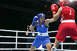 Glasgow 2014 Commonwealth Games<br /> <br /> Charlene Jones, Wales (Blue) v Laishram Devi, India (red)<br /> <br /> 30.07.14<br /> &copy;Steve Pope-SPORTINGWALES