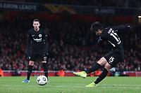 Daichi Kamada scores Eintracht Frankfurt's second goal during Arsenal vs Eintracht Frankfurt, UEFA Europa League Football at the Emirates Stadium on 28th November 2019