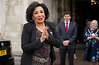 2019 05 17 Shirley Bassey receives freedom of city, Cardiff, Wales, UK