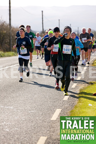 1127 Marie Crowley and 1497 Kuninao Nashimoto who took part in the Kerry's Eye, Tralee International Marathon on Saturday March 16th 2013.