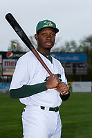 Beloit Snappers outfielder Lester Madden (14) poses for a photo before a Midwest League game against the Lake County Captains at Harry C. Pohlman Field on May 8, 2019 in Beloit, Wisconsin. (Zachary Lucy/Four Seam Images)