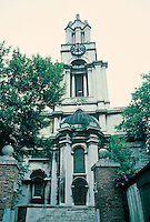 Nicholas Hawksmoor: St. Anne's Limehouse, London 1714-30. Photo '87. Restoration by Julius Harrap.