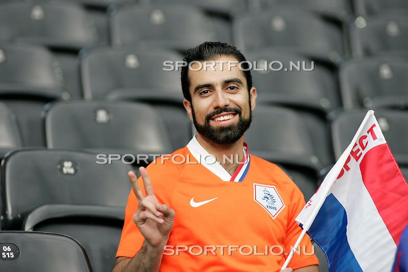 Zwitserland, Bern, 13 juni 2008.Euro 2008, EK 2008.Groep C.Nederland-Frankrijk (4-1).Oranje Supporter