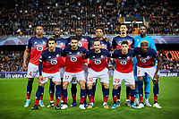 5th November 2019; Mestalla, Valencia, Spain; UEFA Champions League Football,Valencia versus Lille; Lille Team lines up prior to the game - Editorial Use