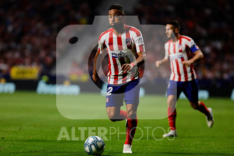 Renan Lodi of Atletico de Madrid during La Liga match between Atletico de Madrid and Real Madrid at Wanda Metropolitano Stadium{ in Madrid, Spain. {iptcmonthname} 28, 2019. (ALTERPHOTOS/A. Perez Meca)