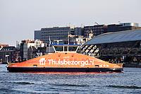 Nederland Amsterdam - 24 maart 2018 . IJveer 50 . Reclame voor Thuisbezorgd.nl. Foto Berlinda van Dam / Hollandse Hoogte