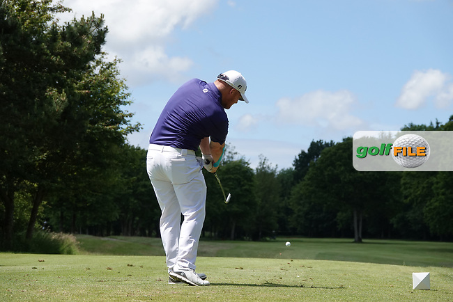 Chris Lloyd of England in action on the 16th tee during the third round of the Hauts de France-Pas de Calais Golf Open, Aa Saint-Omer GC, Saint- Omer, France. 15/06/2019<br /> Picture: Golffile | Phil Inglis<br /> <br /> <br /> All photo usage must carry mandatory copyright credit (© Golffile | Phil Inglis)