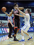 February 14, 2015 - Colorado Springs, Colorado, U.S. -  UNLV forward, Christian Wood #5, looks to pass during an NCAA basketball game between the UNLV Runnin' Rebels and the Air Force Academy Falcons at Clune Arena, U.S. Air Force Academy, Colorado Springs, Colorado.  Air Force defeats UNLV 76-75.