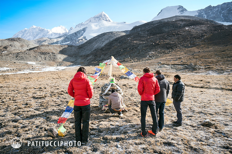 The puja for the Ueli Steck and David Göttler expedtion to Shishapangma, Tibet