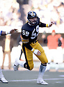 Pittsburgh Steelers Jack Ham(59) in action during a game against the Dallas Cowboys on October 28. 1979 at Three Rivers Stadium in Pittsburgh, Pennsylvania. The Steelers won the game 14-3.Jack Ham play for 12 seasons, all with the Pittsburgh Steelers.  Jack Ham was a 8-time Pro Bowler and was inducted to the Pro Football Hall of Fame in 1988.