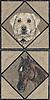 Custom mosaic horse and Labrador Retriever by New Ravenna Mosaics