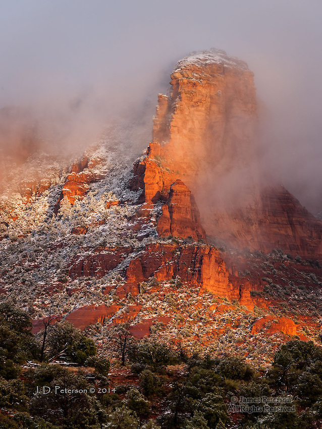 Early Winter Storm over Lee Mountain, Arizona