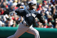 March 4, 2010:  Pitcher Ivan Nova of the New York Yankees during a Spring Training game at Bright House Field in Clearwater, FL.  Photo By Mike Janes/Four Seam Images
