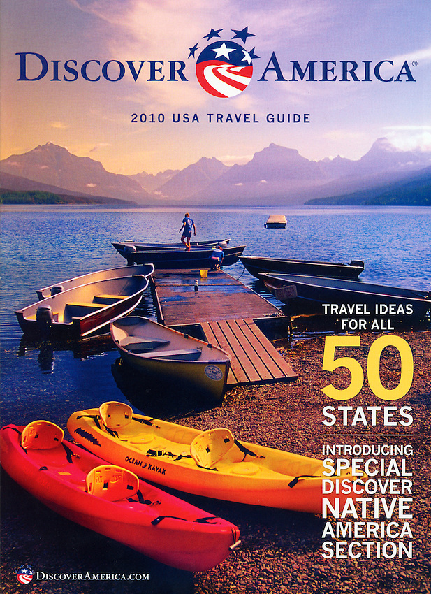 Discover America 2010 Travel Guide cover-Glacier National Park, Montana USA