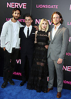 NEW YORK, NY-July 12: Ariel Schulman, Dave Franco, Emma Roberts,Henry Joost,  at Lionsgate presents the World Premiere of NERVE   at SVA Theater in New York. NY July 12, 2016. Credit:RW/MediaPunch