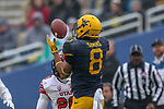 West Virginia Mountaineers wide receiver Marcus Simms (8) in action during the Zaxby's Heart of Dallas Bowl game between the Utah Utes vs. West Virginia Mountaineers at the Cotton Bowl Stadium in Dallas, Texas.