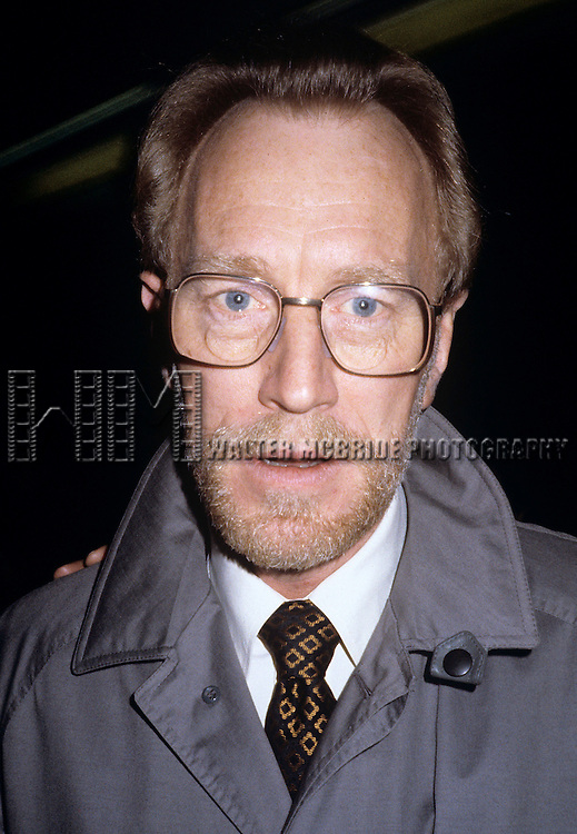 """Max Von Sydow after the final Broadway performance of """"Duet for One"""" at the Royale Theatre in New York City in January 1982."""