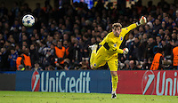 Goalkeeper Iker Casillas of FC Porto throws the ball out during the UEFA Champions League group G match between Chelsea and FC Porto at Stamford Bridge, London, England on 9 December 2015. Photo by Andy Rowland.