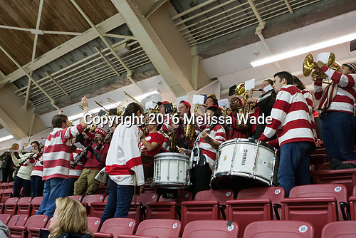 Cornell band - The Harvard University Crimson defeated the visiting Cornell University Big Red on Saturday, November 5, 2016, at the Bright-Landry Hockey Center in Boston, Massachusetts.