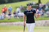 28th May 2017, Ann Arbor, MI, USA;  Jennifer Song acknowledges the gallery on the 18th green after putting out during the final round of the LPGA Volvik Championship on May 28, 2017 at Travis Pointe Country Club in Ann Arbor, Michigan.