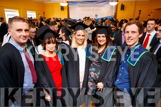 John Bowler (Annascaul), Glenda Christie (Killorglin), Elaine Foley (Keel), Laura Gibney (Tralee) and William Foley (Inch), who graduated with a Certificate in Team Leadership, from IT Tralee, on Friday last at the Brandon Hotel Conference Centre, Tralee.