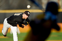 Wake Forest Demon Deacons starting pitcher Justin Van Grouw #30 in action against the Maryland Terrapins at Wake Forest Baseball Park on March 10, 2012 in Winston-Salem, North Carolina.  (Brian Westerholt/Four Seam Images)