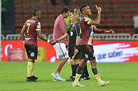 MEDELLÍN - COLOMBIA ,16-05-2019:Jugadores del Deportes Tolima celebran después de ganar su encuentro contra el Atlético Nacional durante partido por los cuadrangulares finales grupo B de la Liga Águila I 2019 jugado en el estadio Atanasio Girardot de la ciudad de Medellín. /Tolima Sports players celebrate after winning their match against Atlético Nacional during the match for the date 14 of the Liga Aguila I 2019 played at the Atanasio Girardot  Stadium in Medellin  city. Photo: VizzorImage / León Monsalve / Contribuidor.